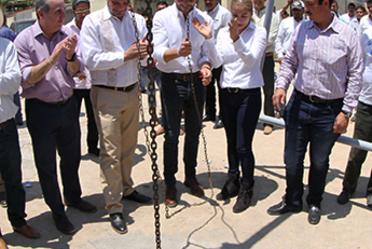 Conagua entrega obras de agua potable y alcantarillado en Nayarit.