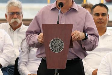 Entrega de la Presa La Palma y la Planta de Tratamiento de Aguas Residuales en La Paz, Baja California Sur.