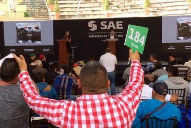 Sexta Subasta de bienes muebles 2018 del SAE, en la ciudad de Zacatecas.
