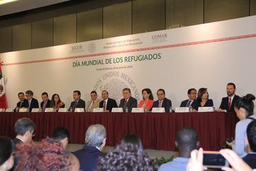 La Secretaría de Gobernación y CIJ firmaron un convenio en el Día Mundial del Refugiado