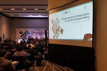 Foto de apertura de la 4ta. Reunión Nacional de Responsables de la Gestión de Equipo Médico