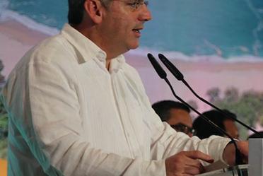 Imagen de Roberto Ramírez de la Parra, Director General de Conagua en el estrado.