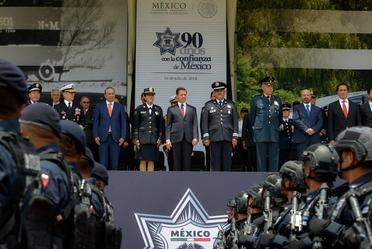 Presidente Enrique Peña Nieto durante la conmemoración del Día del Policía Federal