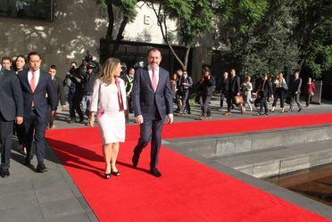 Visita de trabajo a México de la Ministra de Relaciones Exteriores de Canadá, Chrystia Freeland