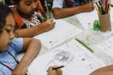 """En el concurso """"Dibuja al inspector canino de SENASICA"""", niños y niñas recrearon su imaginación y conocieron de las labores que realiza el SENASICA en aeropuertos"""