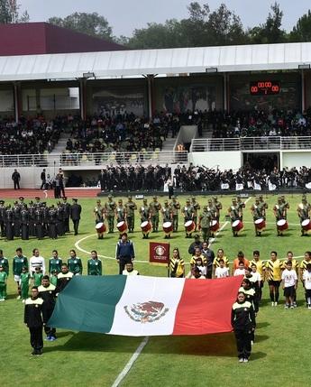"""Final """"Torneo Femenil de Fútbol Soccer del Valle de México entre el Cuerpo de Policía Militar y la Universidad del Ejército y Fuerza Aérea"""""""