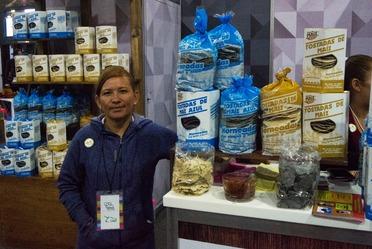 Productores de INAES presentes en la México Alimentaria 2018.