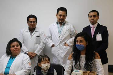 Este trasplante es la paciente más pequeña que se ha tenido en la historia de los trasplantes (19) en el Hospital de Especialidades Pediátricas