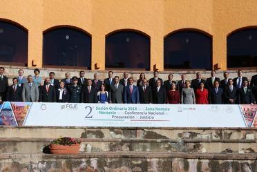 Fotografía oficial de la 2a Sesión Ordinaria de la CNPJ, zona noreste noroeste
