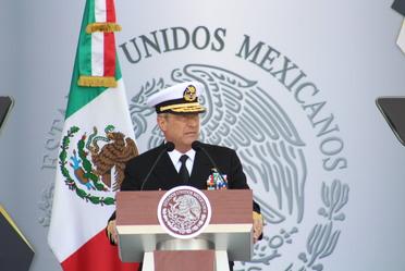 Alto mando en la Ceremonia de inauguración del Centro de Estudios Navales en Ciencias de la Salud