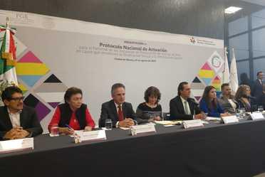 Presentación del Protocolo Nacional de Actualización para el Personal de las Instancias de Pro curación de Justicia del País.