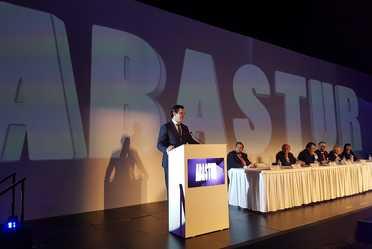 Panel de la inauguración de ABASTUR 2018