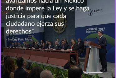 """""""Juntos, sociedad y gobierno, avanzamos hacia un México donde impere la Ley y se haga justicia para que cada ciudadano ejerza sus derechos"""" - Enrique Peña Nieto"""