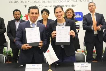 Firman Convenio de Concertación de Acciones Seguro Popular- Fundación Cinépolis, para realizar cirugía de cataratas a los afiliados beneficiarios del programa, en todas las entidades federativas.