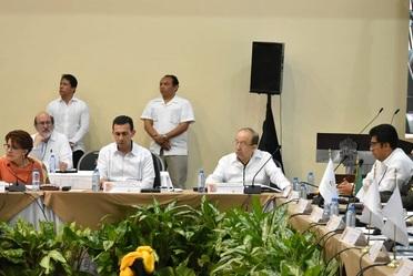 Durante las sesiones de trabajo de la XXI Reunión Ordinaria del Consejo Nacional de Salud CONASA revisamos logros, avances y resultados del sector salud en esta administración: Antonio Chemor Ruiz.