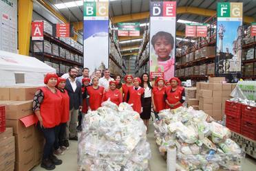 La Titular de la SEDATU y el gobernador del estado de Puebla realizaron un recorrido por el Banco de Alimentos