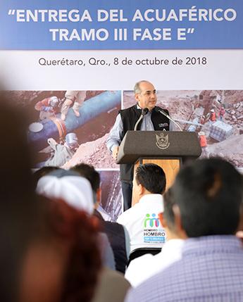 Entrega del Acuaférico Tramo III Fase E de Querétaro, como parte del Compromiso de Gobierno CG-093