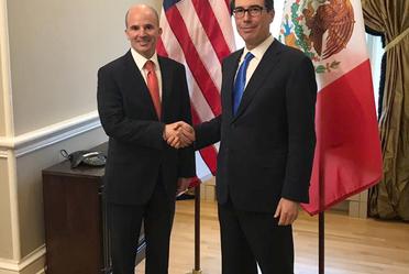 El Secretario de Hacienda, José Antonio González Anaya se reunió con el Secretario del Tesoro de Estados Unidos, Steven Mnuchin.