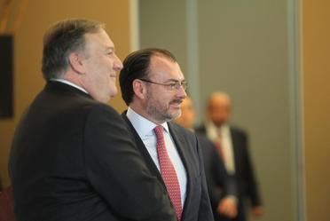 Se reúne el Canciller Luis Videgaray y el Secretario de Estado de EUA, Michael Pompeo