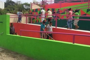 Taller de toma de Conciencia en Playa Incluyente en Bahías de Papanoa en Guerrero.