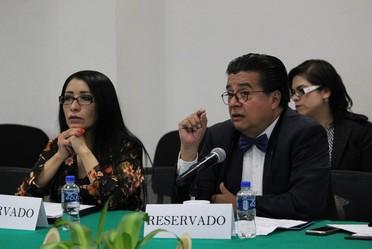 Doctor Fernando Meneses, Director de Investigación, presentando los resultados del estudio piloto.
