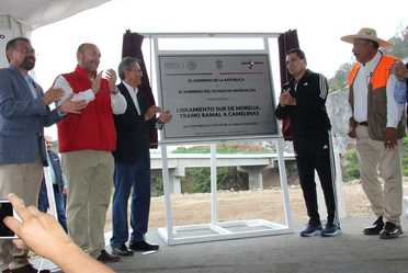 Inauguración del Libramiento Sur de Morelia, tramo Ramal a Camelinas