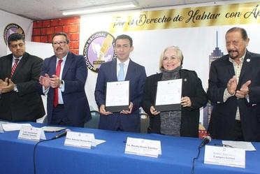 Firma de Convenio de Concertación de Acciones Seguro Popular – Asociación Nacional de Locutores de México