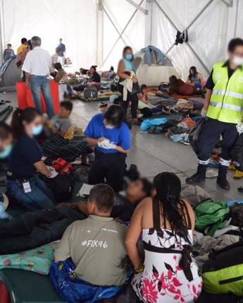 Atiende DIF Nacional a niñas, niños y adolescentes de la caravana migrante
