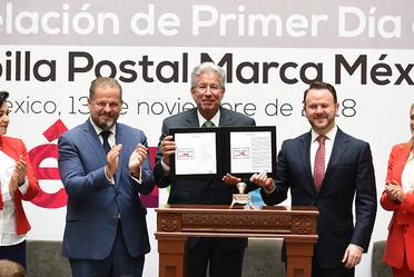 Ceremonia de Cancelación de Primer Día de Emisión de la Estampilla Postal Marca México