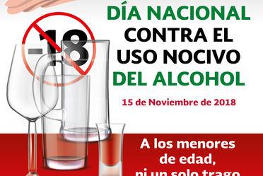 15 de noviembre, Día Nacional contra el Uso Nocivo del Alcohol