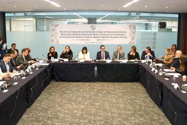 Reunión del Secretario de Economía con grupo de trabajo de Relaciones Exteriores