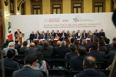 El Presidente López Obrador en su discurso