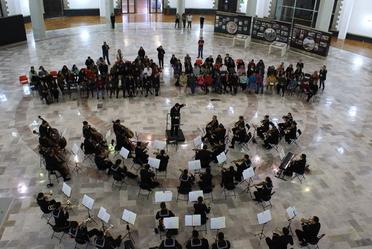 Se contó con la presencia de la orquesta de la Secretaria de Marina
