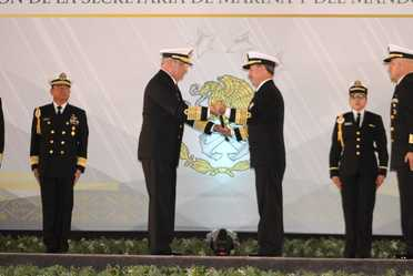 Ceremonia de Entrega-Recepción de la Secretaría de Marina y del Mando de Armas de la Armada de México