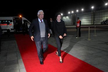 Arriba a nuestro país, el Excmo. Sr. António Costa, Primer Ministro de la República Portuguesa. La bienvenida estuvo a cargo de Luisa María Alcalde Luján,  Secretaria del Trabajo.