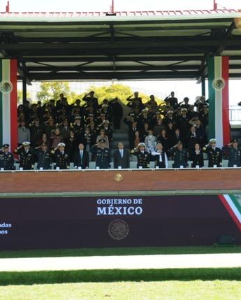 Ceremonia de Salutación de las Fuerzas Armadas al Presidente de los Estados Unidos Mexicanos