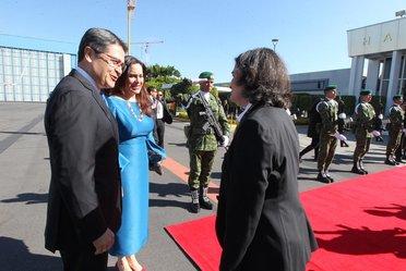 El Presidente de Honduras, Juan Orlando Hernández, visita nuestro país y asiste a la Ceremonia de Transición del Poder Ejecutivo Federal.