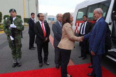 Arribó a nuestro país el Presidente de la República Árabe Saharaui Democrática (RASD), Brahim Ghali,  quien fue recibido por la Secretaria de Energía, Rocío Nahle.