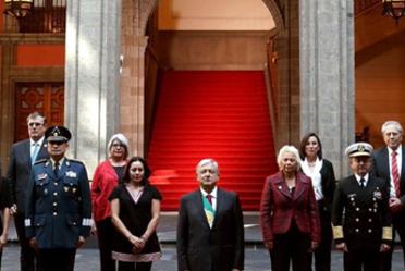 Gabinete del Presidente Andrés Manuel López Obrador en Palacio Nacional.