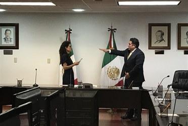 La secretaria Luisa Alcalde toma protesta a Alberto Ortíz nuevo titular de infonacot