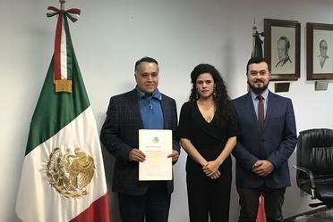 La Secretaria Luisa Alcalde toma protesta a Andrés Peñaloza como titular de la CONASAMI