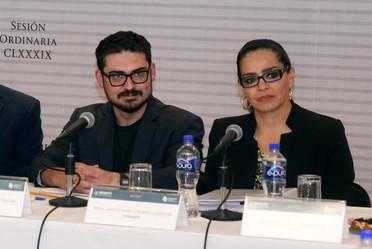 Román Meyer, titular de la SEDATU, y Lirio Rivera, encargada de despacho de la Dirección General de FONHAPO.