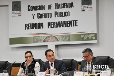 El subsecretario Arturo Herrera asistió a una reunión de trabajo en la Comisión de Hacienda y Crédito Público, Cámara de Diputados