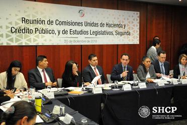 El subsecretario de Hacienda, Arturo Herrera, asistió al Senado para analizar el Proyecto de Decreto de la Ley de Ingresos 2019