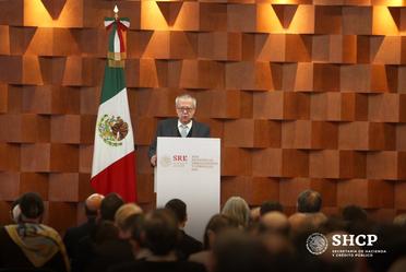 El secretario de Hacienda compartió las expectativas económicas del Gobierno de México en la XXX Reunión de Embajadores y Cónsules