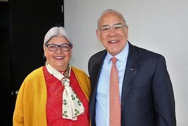 En la imagen, la Secretaria de Economía, Graciela Márquez, con el Secretario General de la OCDE, José Ángel Gurría