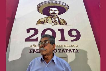Encargado de Despacho del RAN, Plutarco García Jiménez, durante el evento 2019 Año del Caudillo del Sur, Emiliano Zapata.