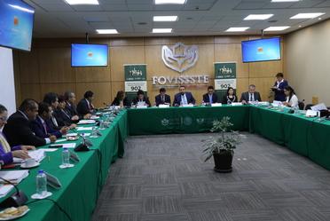 Encabeza el Vocal Ejecutivo del Fovissste Agustín Rodriguez López la comisión ejecutiva número 902