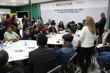 Representantes de Gobierno y OSC participan en mesas de trabajo en el marco de la Reunión de Vinculación con OSC en materia de migración