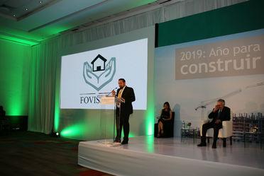 Encabeza el Vocal Ejecutivo del Fovissste Agustín Rodriguez López, este magno evento organizado por el Banco Inmobiliario Mexicano